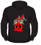 JQ Shark Hoodie black red
