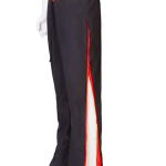 black red trousers
