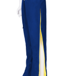 blue yellow trousers